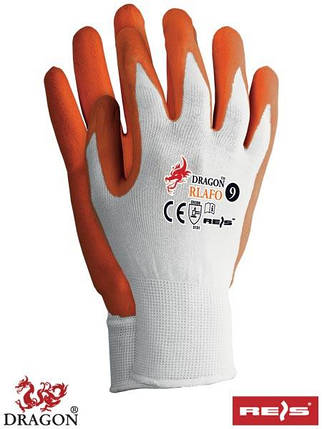 Защитные перчатки Mandarin покрытые латексом RLAFO WP, фото 2
