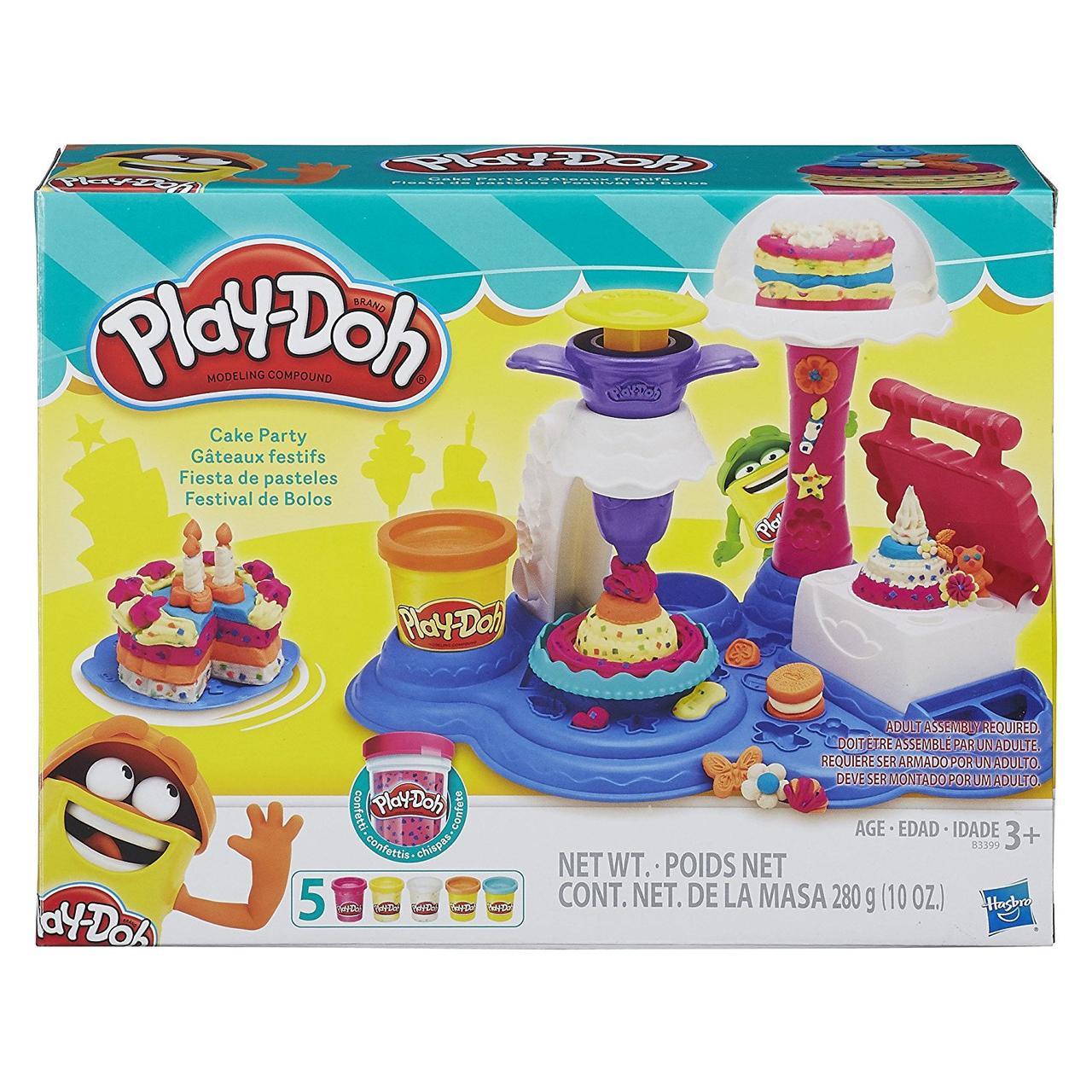 Игровой набор Сладкая вечеринка Плей До оригинал набор Play-Doh Cake Party Hasbro