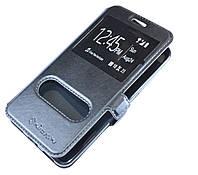 Черная кожаная чехол-книжка Nillkin на магнитной застежке для Lenovo Vibe C2, фото 1