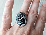 Комплект: кольцо и  кулон в серебре, фото 2