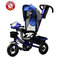Детский трехколесный велосипед Baby Trike CT-60 , надув колеса, синий