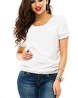 Блуза женская, софт, короткий рукав