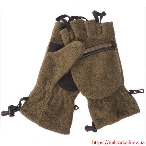 Перчатки с откидной варежкой Mil-Tec олива