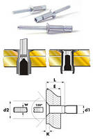 Заклёпка сталь / сталь потайной бортик 120°, усиленная*