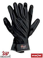 Защитные перчатки из нейлона с полным (всей кисти) нитриловым покрытием чёрного цвета RNIFO-FULL SB