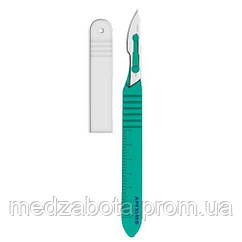 Скальпель с пласт.ручкой, из нержавеющей стали, STEELUXE