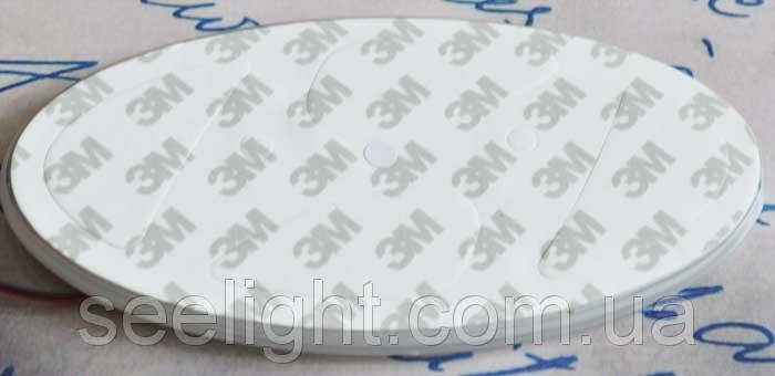 Автомобильный логотип Hyundai 14.5*7.25 см. светящаяся подкладка, белый