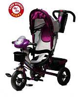 Детский трехколесный велосипед Baby Trike CT-60 , надув колеса, фиолетовый