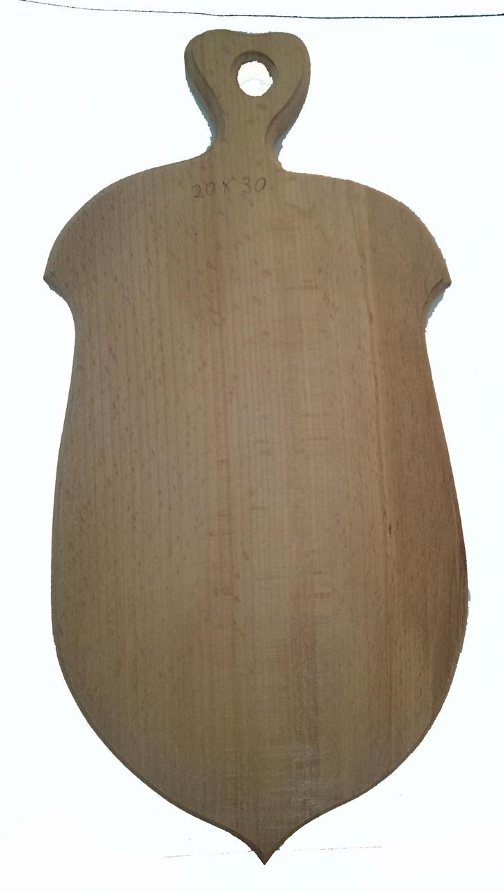 Доска разделочная деревянная  25*32 в виде жолудя  буковая  оптом и в розницу