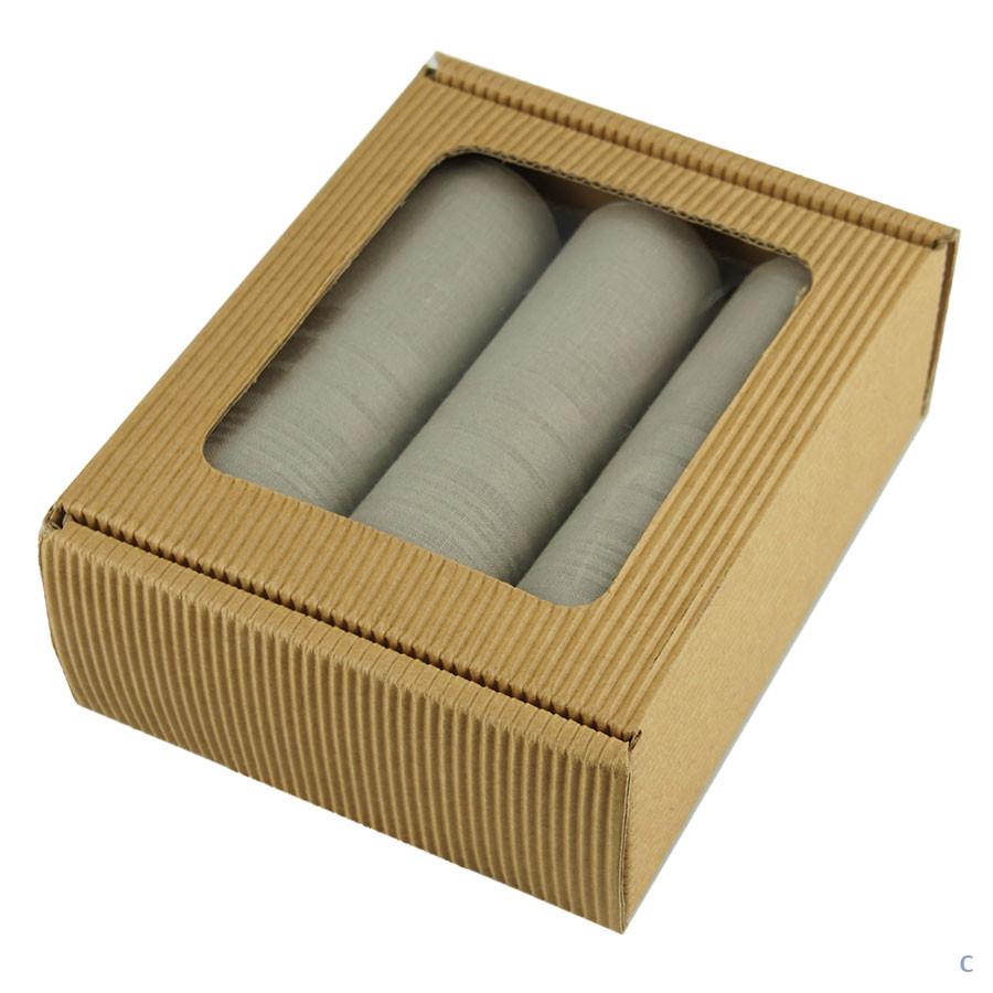 Подарочный набор однотонных носовых платков EGA 3 шт.