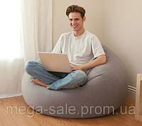 Надувное кресло мешок с мягким покрытием интекс Intex 107х104х69см
