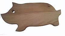 Доска разделочная деревянная  17*40 в виде поросенка  буковая  оптом и в розницу