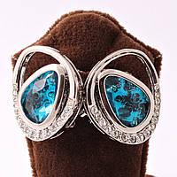 """Серьги """"Голубые кристаллы"""""""