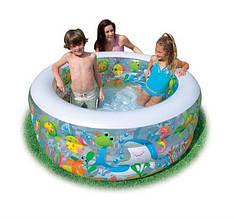 Детский надувной басейн Аквариум Intex
