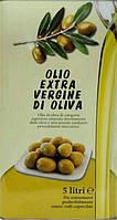 Итальянское Оливковое Масло OLIO Extra Virgin di Oliva (первый отжим), 5л ж/б