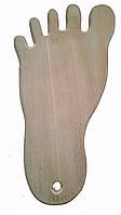 Доска разделочная деревянная  20*38 в виде пятки  буковая оптом и в розницу