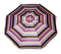 Пляжный зонт с серебряным напылением, регулировкой наклона и усиленными спицами1.8 м, фото 1