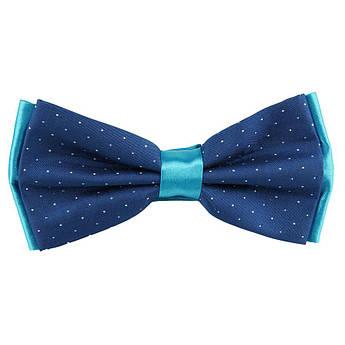 Метелик чоловічий комбінований в синіх кольорах