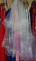 Свадебная фата с вышивкой (КВ-В-Ромашка)