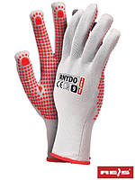 Защитные перчатки из нейлона с точечным покрытием с одной стороны RNYDO WC