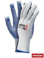 Защитные перчатки из нейлона с точечным покрытием с одной стороны RNYDO WN
