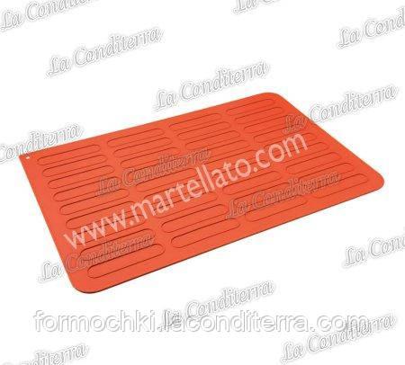 Силиконовый коврик для эклеров MARTELLATO 30TE6001R (600х400 мм)