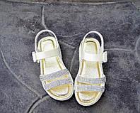 Пляжная обувь для девочки босоножки со стразами 25-35 р