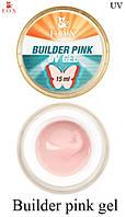 Розовый моделирующий 3-фазный гель F.O.X Builder gel UV , 15 мл