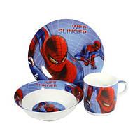 Детский набор посуды Человек Паук 398