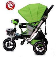 Детский трехколесный велосипед Baby Trike CT-90 , надув колеса, зеленый