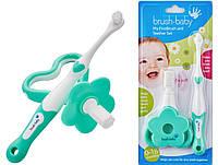 Зубная щетка+прорезыватель для зубов Brush-Baby Set от 0 до 3 лет, фото 1