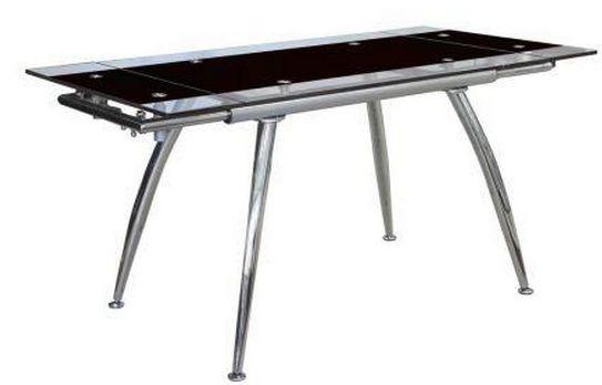 "Стол обеденный раскладной B-179-3 каркас хром, база стола-цвет ""алюм"""