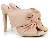 Розово-бежевые женские шлепанцы Selena