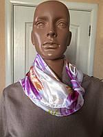 Женский платок нашейный маленький атласный Lafeny