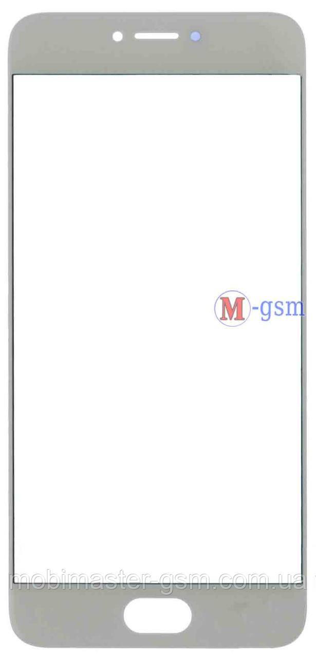 Корпусное стекло на  Meizu Pro 6 белое