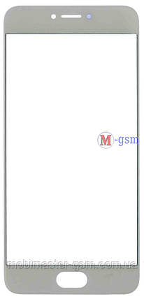 Корпусное стекло на  Meizu Pro 6 белое, фото 2