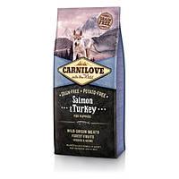 Carnilove Puppy Salmon & Turkey с лососем и индейкой для щенков 1.5кг
