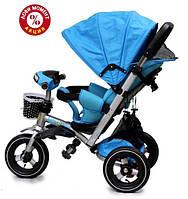 Детский трехколесный велосипед Baby Trike CT-90 , надув колеса, голубой