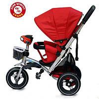 Детский трехколесный велосипед Baby Trike CT-90 , надув колеса, красный