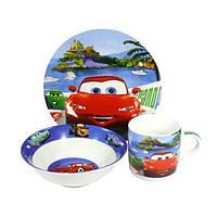 Детский набор посуды Тачки красные 363
