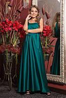 Изумрудное платье в пол модного фасона