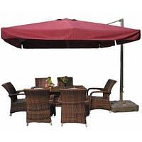 Консольный зонт для сада, кафе и торговых площадок 3*3 метра квадратный
