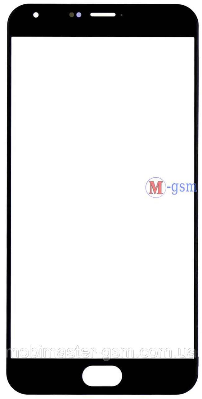 Корпусное стекло на  Meizu Pro 5 черное