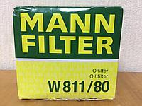 Фильтр масляный Kia Ceed (Сид) 1.4/1.6/2.0 (бензин) 2006-->2012 Mann (Германия) W 811/80