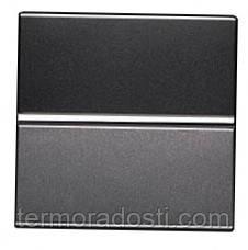 Выключатель 1-клавишный двухполюсный ABB Zenit Антрацит (N2201.2 AN)