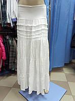 Юбка длинная летняя белого цвета