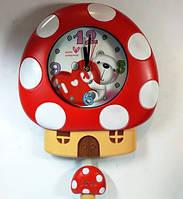 """Детские настенные часы """"Гриб"""" с маятником g1"""
