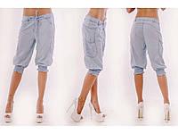 Женские джинсовые легкие бриджи