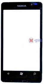 Корпусное стекло на  Lumia 800 черное