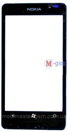Корпусное стекло на  Lumia 800 черное, фото 2